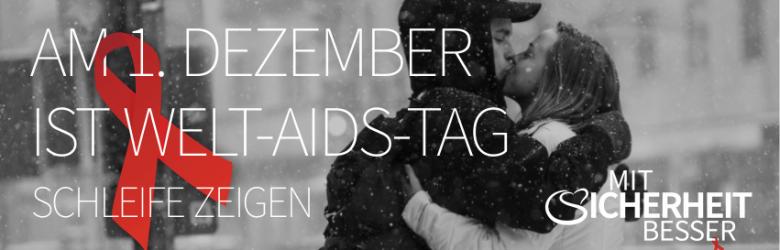 Ein Pärchen küsst sich im Schnee - zum welt-aids-tag-2016
