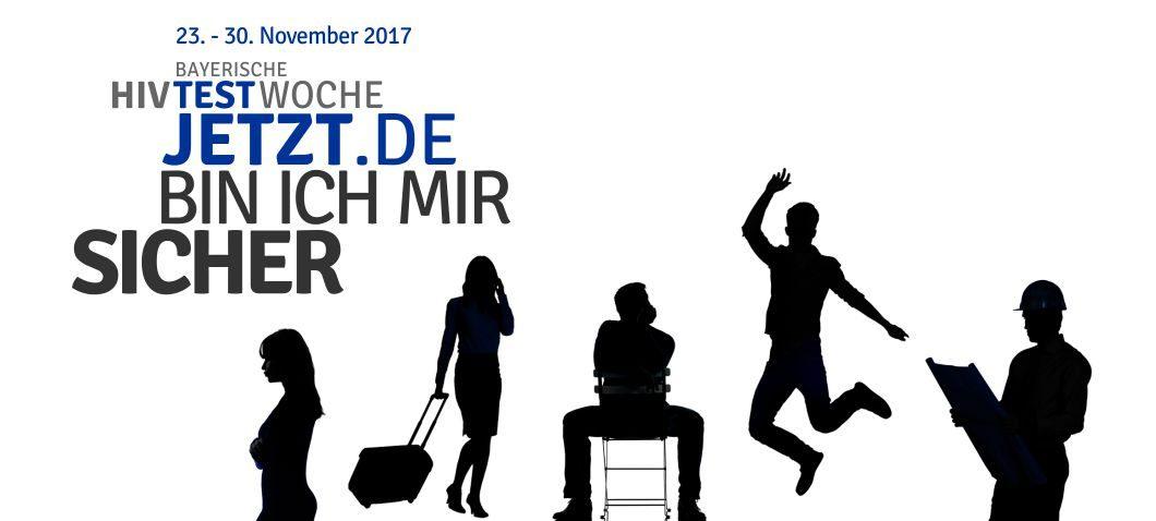 Bayerische HIV-Testwoche - fünf betroffene Menschen als Schattenbilder...