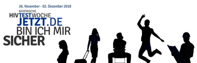TestJetzt.de - Bayerische HIV Testwoche vom 26. 11. - 2. 12. 2018