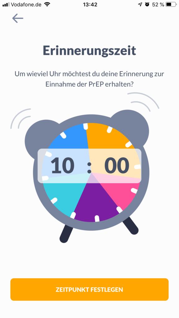 Screenshot prepared App Erinnerungsfunktion